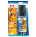 040515 Клей двухкомпонентный эпоксидный APP <EP3> 2х15мл (для склеивания металла, бетона, керамики, дерева), 30мл