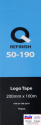 50-190-2010, Q-Refinish, Клей для эмблем в листах 200мм х 100м, 10шт