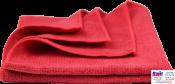 8-803-0002, C.A.R.FIT, Красная полировальная салфетка из микрофибры мягкая, 40х40см