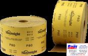 Абразивная бумага в рулонах SUNMIGHT GOLD (115мм x 50м), P100