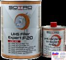 T022140, SOTRO, SOTRO UHS Acryl filler 5:1 Expert F20, Двухкомпонентный акриловый грунт-наполнитель с высоким содержанием сухого остатка (UHS - Ultra High Solid), 4 литра + отвердитель, серый