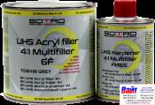 2К Акриловый мультифункциональный грунт UHS 4:1 Sotro Multifiller 6F (800 мл) + отвердитель (200 мл), серый