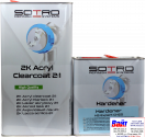 T032050, SOTRO, SOTRO HS Acryl Clearcoat Expert C20, Двухкомпонентный бесцветный акриловый лак с высоким содержанием сухого остатка(HS - High Solid), 5 литров + нормальный отвердитель (T032525)