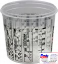 Т120022, SOTRO, Пластиковая мерная тара для смешивания красок и лаков с делениями 300 мл
