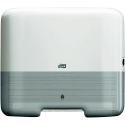 Tork 553100 Мини-диспенсер для листовых полотенец сложения ZZ. Белый